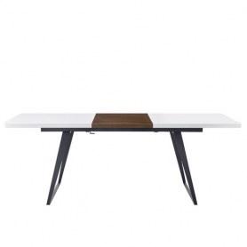 Кухонный стол-трансформер DT-93B белый матовый/орех