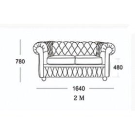 Прямой диван Честер 2М (седафлекс)