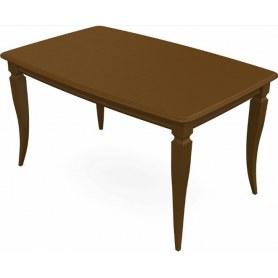 Обеденный раздвижной стол Сибарит 140х80, тон 2 (Морилка/Эмаль)