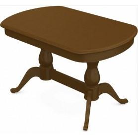 Обеденный раздвижной стол Фабрицио-2 исп. Мыло 1400, Тон 2 (Морилка/Эмаль)