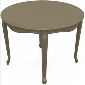 Обеденный раздвижной стол Кабриоль исп. Круг 1250, тон 40 (Морилка/Эмаль)