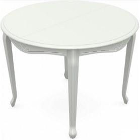 Обеденный раздвижной стол Кабриоль исп. Круг 1250, тон 9 (Морилка/Эмаль)
