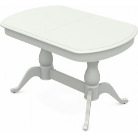 Обеденный раздвижной стол Фабрицио-2 исп. Мыло 1600, Тон 9 (Морилка/Эмаль)