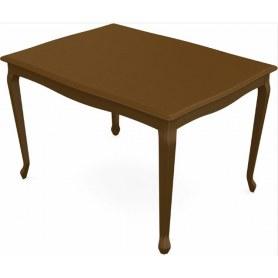Обеденный раздвижной стол Кабриоль 1400х800, тон 2 (Морилка/Эмаль)