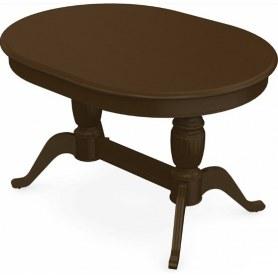 Обеденный раздвижной стол Леонардо-2 исп. Овал, тон 4 (Морилка/Эмаль)