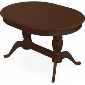 Обеденный раздвижной стол Леонардо-2 исп. Овал, тон 3 (Морилка/Эмаль)