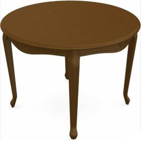 Обеденный раздвижной стол Кабриоль исп. Круг 1250, тон 2 (Морилка/Эмаль)