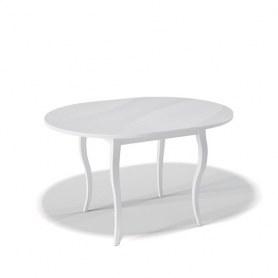 Кухонный раздвижной стол Kenner 1000С (Белый/Стекло белое глянец)