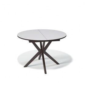 Кухонный раздвижной стол Kenner B1100 (Венге/Стекло белое сатин)