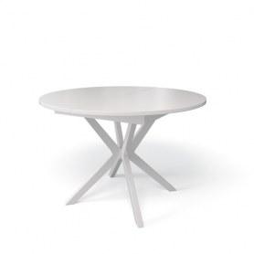 Кухонный раздвижной стол Kenner B1100 (Белый/Стекло белое сатин)
