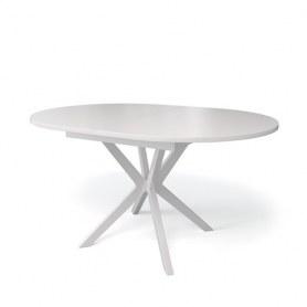 Кухонный раздвижной стол Kenner B1300 (Белый/Стекло белое сатин)