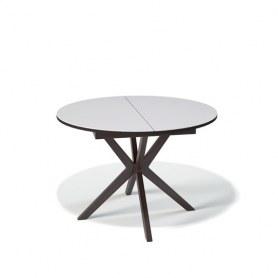 Кухонный раздвижной стол Kenner B1100 (Венге/Стекло белое глянец)