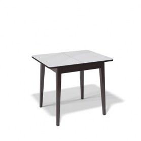 Кухонный раздвижной стол Kenner 900M (Венге/Стекло белое сатин)