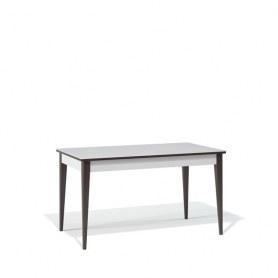 Кухонный раздвижной стол Kenner T1400 (Венге/Стекло белое сатин)