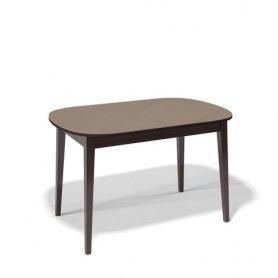 Кухонный раздвижной стол Kenner 1300M (Венге/Стекло капучино сатин)