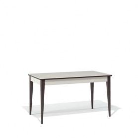 Кухонный раздвижной стол Kenner T1400 (Венге/Стекло крем глянец)