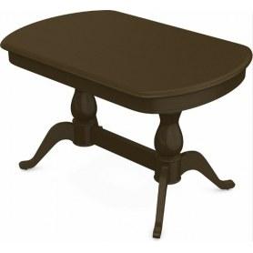 Обеденный раздвижной стол Фабрицио-2 исп. Мыло 1200, Тон 5 (Морилка/Эмаль)