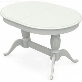 Обеденный раздвижной стол Леонардо-2 исп. Овал, тон 9 (Морилка/Эмаль)