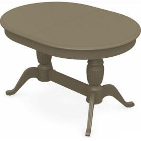 Обеденный раздвижной стол Леонардо-2 исп. Овал, тон 40 (Морилка/Эмаль)