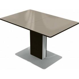 Кухонный стол Сардиния (стекло молочное/венге)