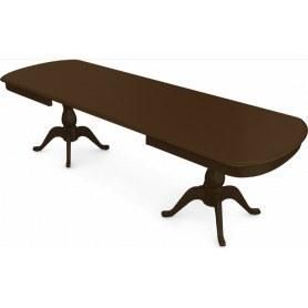 Обеденный раздвижной стол Фабрицио-2 исп. Мыло большой 2 вставки, Тон 4 (Морилка/Эмаль)