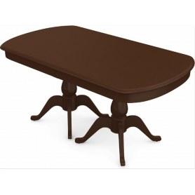 Обеденный раздвижной стол Фабрицио-2 исп. Мыло большой 2 вставки, Тон 3 (Морилка/Эмаль)