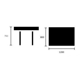Обеденный стол Москва Зебрано/Венге 120 см