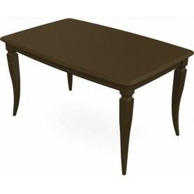 Обеденный раздвижной стол Сибарит 140х80, тон 5 (Морилка/Эмаль)