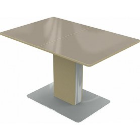 Кухонный стол Сардиния (стекло молочное/дуб выбеленный)