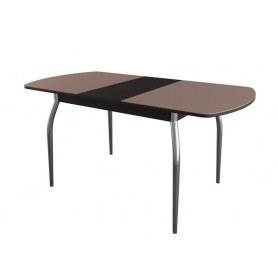 Обеденный стол раздвижной N 1, венге/шоколад