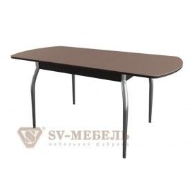 Обеденный стол раздвижной N 2, венге/шоколад