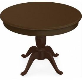 Обеденный раздвижной стол Леонардо-1 исп. Круг 1000, тон 4 (Морилка/Эмаль)