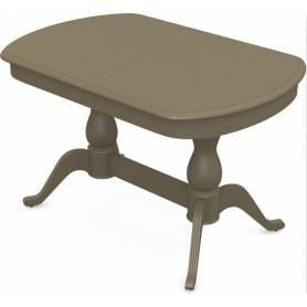 Обеденный раздвижной стол Фабрицио-2 исп. Мыло 1600, Тон 40 (Морилка/Эмаль)