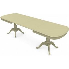 Обеденный раздвижной стол Фабрицио-2 исп. Мыло большой 2 вставки, Тон 10 (Морилка/Эмаль)