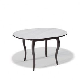 Кухонный раздвижной стол Kenner 1000С (Венге/Стекло белое глянец)