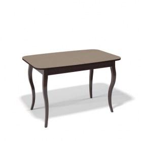 Кухонный раздвижной стол Kenner 1200C (Венге/Стекло капучино глянец)