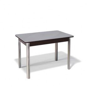 Кухонный раздвижной стол Kenner 1100S (Хром/Венге/Стекло серое сатин)