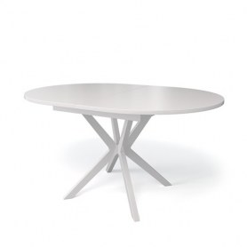 Кухонный раздвижной стол Kenner B1300 (Белый/Стекло белое глянец)