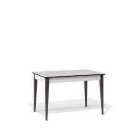 Кухонный раздвижной стол Kenner T1200 (Венге/Стекло белое сатин)