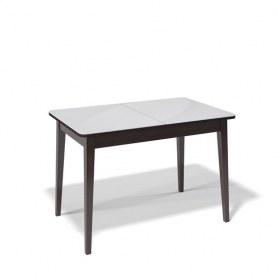Кухонный раздвижной стол Kenner 1100M (Венге/Стекло белое глянец)