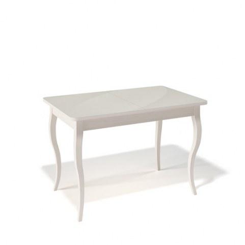 Кухонный раздвижной стол Kenner 1100C (Бук/Стекло крем сатин)