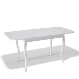 Кухонный раздвижной стол Kenner 1200C (Бук/Стекло крем сатин)