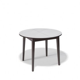 Кухонный раздвижной стол Kenner 1000M (Венге/Стекло белое глянец)