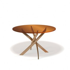 Кухонный стол Kenner R1200 (Золото/Стекло бронза глянец)