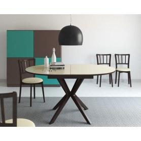 Кухонный раздвижной стол Kenner B1300 (Венге/Стекло крем глянец)