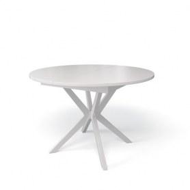 Кухонный раздвижной стол Kenner B1100 (Белый/Стекло белое глянец)
