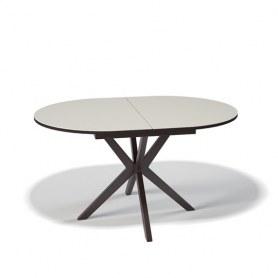 Кухонный раздвижной стол Kenner B1300 (Венге/Стекло крем сатин)