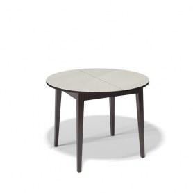 Кухонный раздвижной стол Kenner 1000M (Венге/Стекло крем глянец)