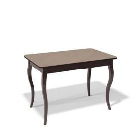 Кухонный раздвижной стол Kenner 1100C (Венге/Стекло капучино сатин)