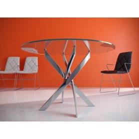 Кухонный стол Kenner R1200 (Хром/Стекло прозрачное)